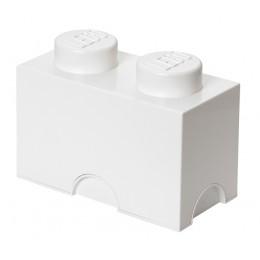 LEGO Pojemnik 2 na zabawki 12,5 x 25 cm Biały
