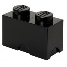 LEGO Pojemnik 2 na zabawki 12,5 x 25 cm Czarny