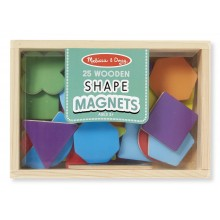 Melissa & Doug Drewniane magnesy: kolory i kształty 19277