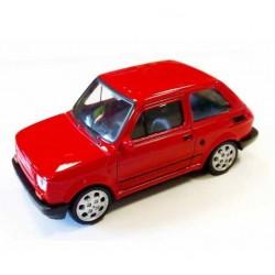 Welly - Maluch Fiat 126 Czerwony - Model 1:34