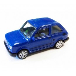 Welly - Maluch Fiat 126 Niebieski - Model 1:34