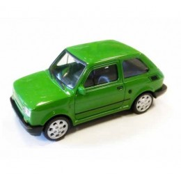 Welly - Maluch Fiat 126 Zielony - Model 1:34