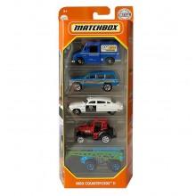 Matchbox – Pięciopak samochodzików – MBX Countryside II – GKJ02