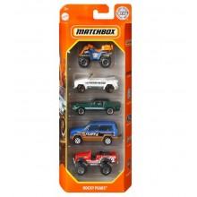 Matchbox – Pięciopak samochodzików – Rocky Peaks – GKJ09