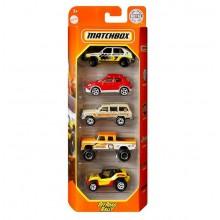 Matchbox – Pięciopak samochodzików – Off Road Rally – GVY41