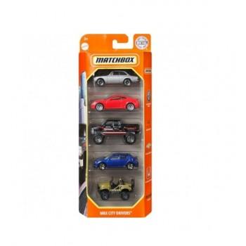 Matchbox – Pięciopak samochodzików – MBX City Drivers – GVY42