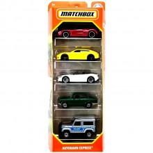 Matchbox – Pięciopak samochodzików – Autobahn Express – GVY44