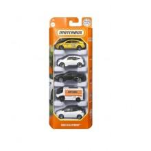 Matchbox – Pięciopak samochodzików – BMX EV & Hybrid – HCJ00
