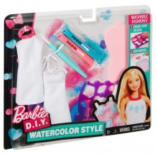 Barbie D.I.Y. Zrób to sama Akwarelowe wzory kolor niebieski DMC08
