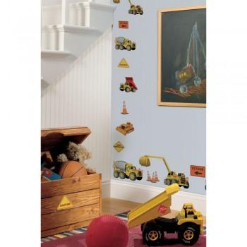 RoomMates Naklejki na Ścianę Wielokrotnego Użytku 1007 - Na Budowie