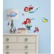 RoomMates Naklejki na Ścianę Wielokrotnego Użytku 2347 - Mała Syrenka Ariel Disney