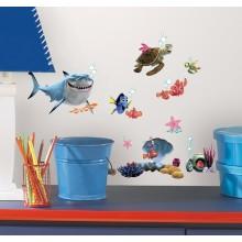 RoomMates Naklejki na Ścianę Wielokrotnego Użytku - Nemo Disney