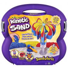 Kinetic Sand - Zestaw w walizce z piaskiem kinetycznym - Fontanna z piasku 6055859