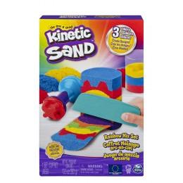 Kinetic Sand – Piasek kinetyczny – Zestaw tęczowych narzędzi 6053691