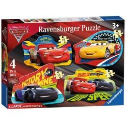 Ravensburger - Puzzle podłogowe 4 w 1 - Auta 3 - 68913