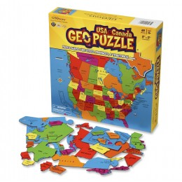 GEOPuzzle Mapa USA i Kanada