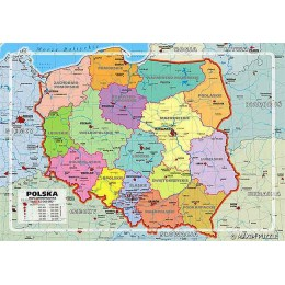 Puzzle 150 Mapa Polski