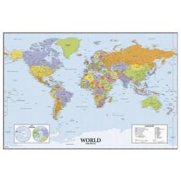 RoomMates Naklejki na Ścianę -  Mapa świata Tablica suchościeralna