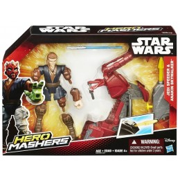 Hasbro HERO MASHERS STAR WARS B3833 Jedi Speeder & Anakin Skywalker