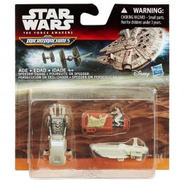 STAR WARS Micro Machines B3504 Trójpak Speeder Chase
