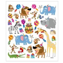 Naklejki urodzinowe zwierzątka – 27185