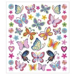 Naklejki kolorowe motylki – 28885