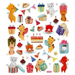 Naklejki urodzinowe kotki – 29063
