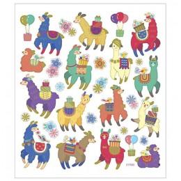 Naklejki kolorowe lamy alpaki – 29172