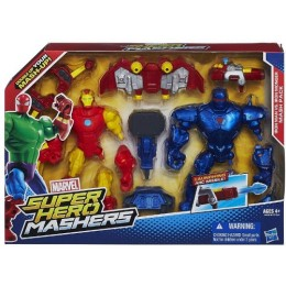 HASBRO SUPER HERO MASHERS IRON MAN VS IRON MONGER A9530