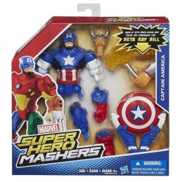 HASBRO SUPER HERO MASHERS CAPTAIN AMERICA B0694