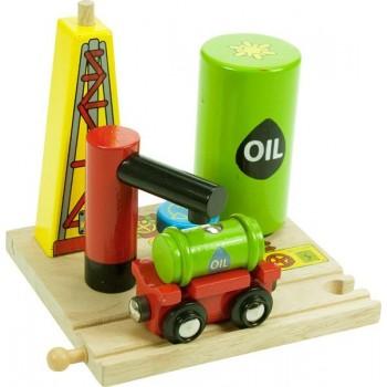 BJT206 Szyb Naftowy + Wagonik do kolejek drewnianych