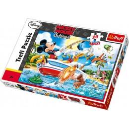 TREFL 14221 PUZZLE 24 maxi Myszka Miki i przyjaciele