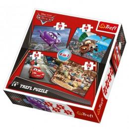 Trefl 34107 Puzzle Auta 2 Cars 2 4w1 4 obrazki