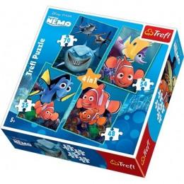 Trefl 34142 Puzzle Gdzie jest Nemo 4w1 4 obrazki
