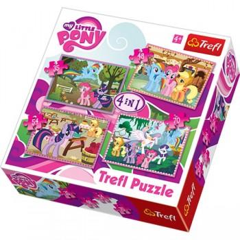 Trefl 34153 Puzzle My Little Pony 4w1 4 obrazki