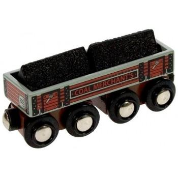 Wagon z Węglem do kolejek drewnianych BigJigs BJT408