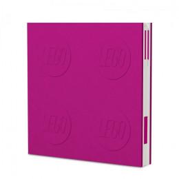 Notatnik LEGO z długopisem – różowy – 52438