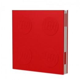 Notatnik LEGO z długopisem – czerwony – 52439