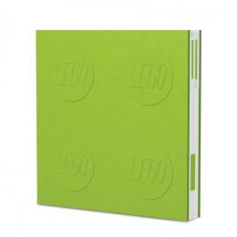 Notatnik LEGO z długopisem – zielony – 52442