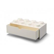 LEGO – Pojemnik na biurko z szufladą 8 – biały – 4021