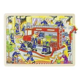 GOKI 57527 Puzzle drewniane - Strażacy w akcji