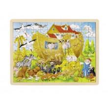 GOKI 57535 Drewniane puzzle - Arka Noego