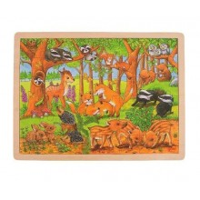 GOKI 57734 Drewniane puzzle - Leśna polana