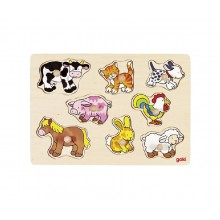 GOKI 57873 Układanka drewniana - Zwierzęta domowe