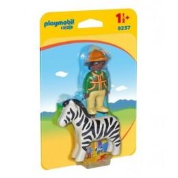 Playmobil 1-2-3 9257 Strażnik z zebrą - figurki